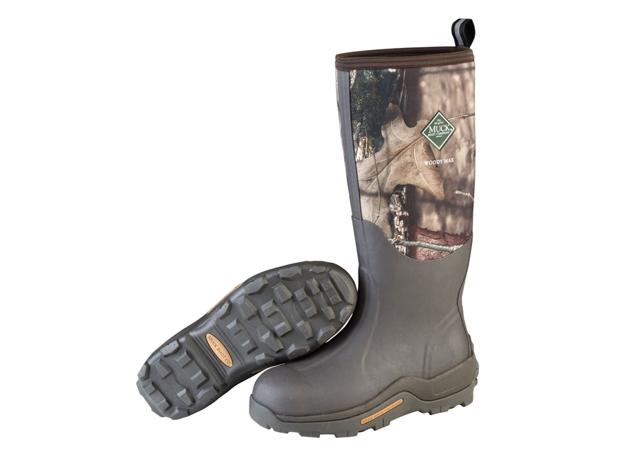 "Muck Woody Max 17"" Waterproof Insulated Hunting Boots Rubber/Nylon Mossy Oak Break-Up C..."