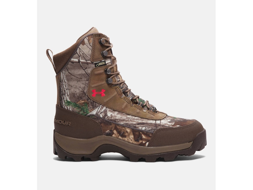 "Under Armour Brow Tine 7"" Waterproof 800 Gram Insulated Hunting Boots Leather Realtree ..."