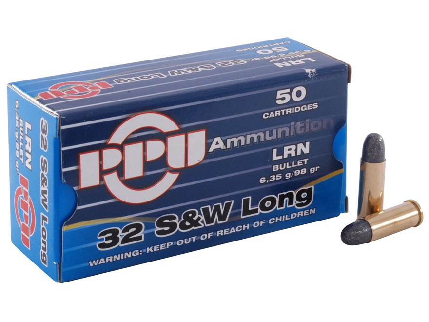 Prvi Partizan Ammunition 32 S&W Long 98 Grain Lead Round Nose Box of 50