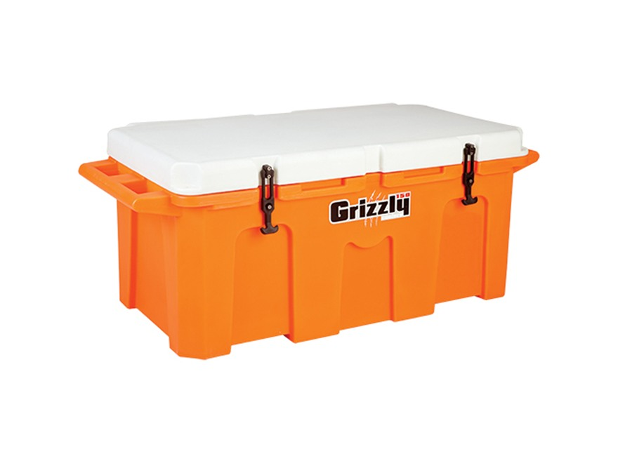 Grizzly 150 Qt Cooler with Molded Handles Polyethylene Orange