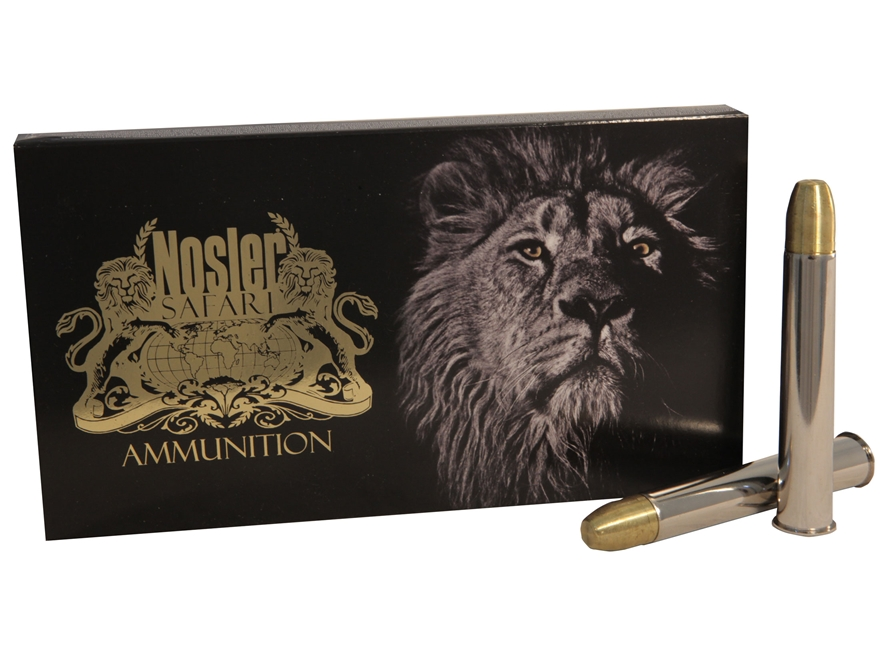 Nosler Safari Ammunition 500 Nitro Express 570 Grain Solid Box of 10