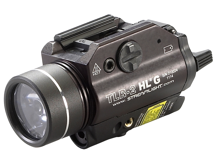 Streamlight TLR-2 HL G Weaponlight LED with Green Laser and 2 CR123A Batteries Fits Pic...