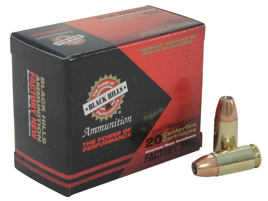 Black Hills Ammunition 9mm Luger 115 Grain EXP (Extra Power) Jacketed Hollow Point Box ...