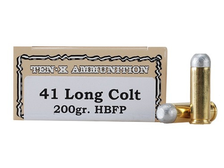 Ten-X Cowboy Ammunition 41 Long Colt 200 Grain Lead Hollow Base Flat Point Box of 50
