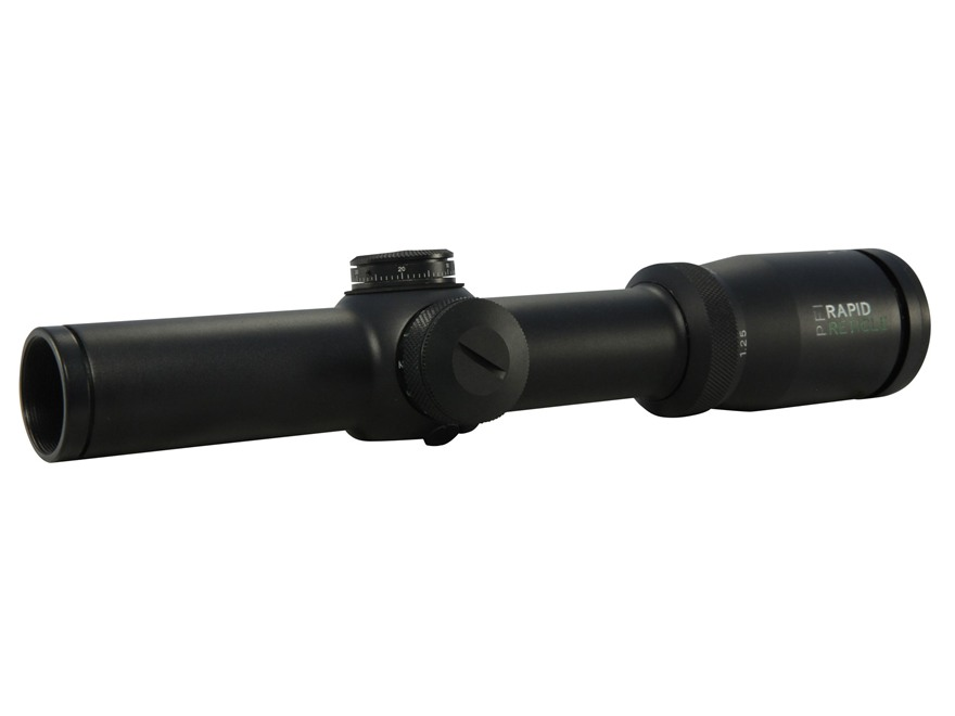 Pride Fowler Rapid Reticle Evolution Rifle Scope 30mm Tube 1.25-4x 24mm First Focal Ill...