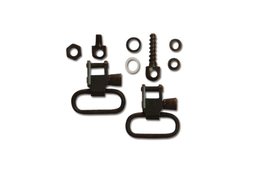 "GrovTec Sling Swivel Set Ruger Mini-14 Sling Swivel Studs 1"" Locking Swivels Steel Black"