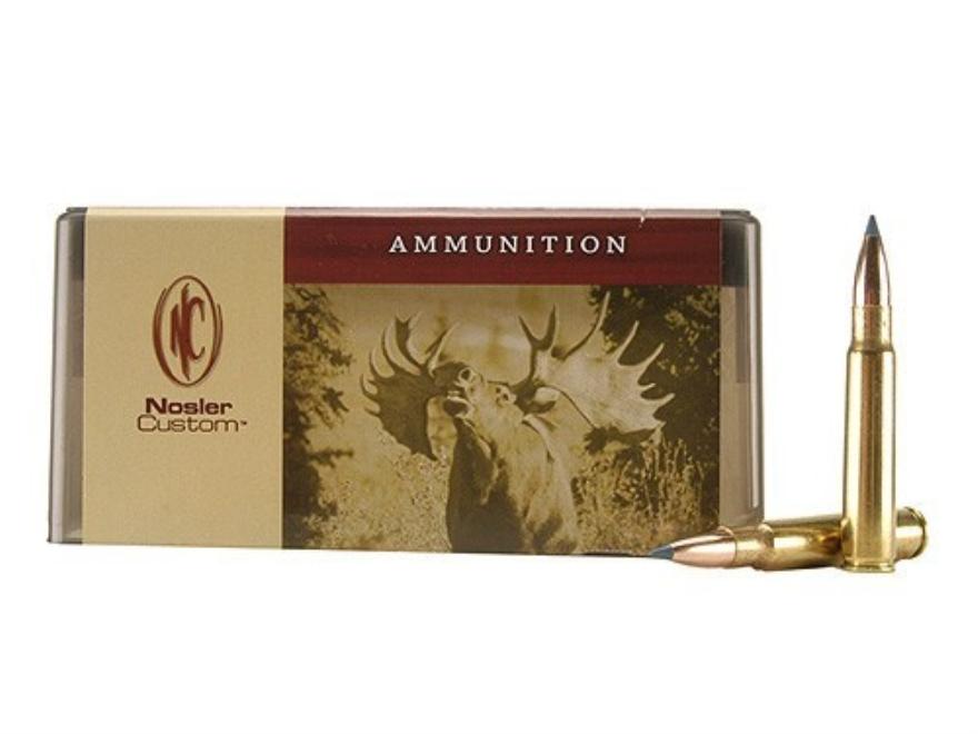 Nosler Custom Ammunition 8x57mm JS Mauser (8mm Mauser) 180 Grain Ballistic Tip Hunting ...