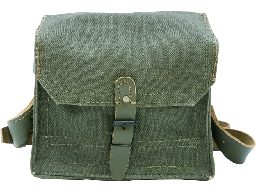 Military Surplus French Shoulder Bag with Strap Grade 2 Olive Drab