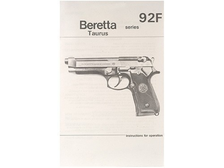 """Beretta, Taurus 92F Series"" Manual"