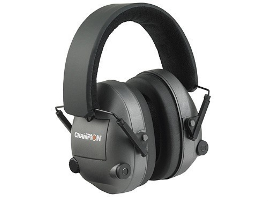 Champion Stereo Electronic Earmuffs (NRR 21dB) Gray