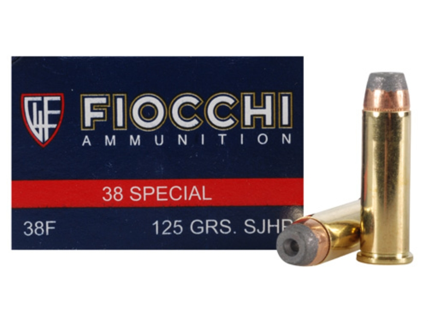 Fiocchi Shooting Dynamics Ammunition 38 Special 125 Grain Semi-Jacketed Hollow Point Bo...