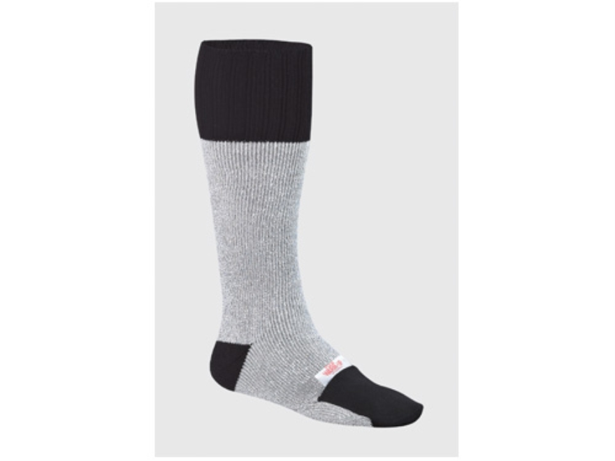 Wise Hunters Sock with Warmer Pocket Synthetic Blend Gray and Black 10-13