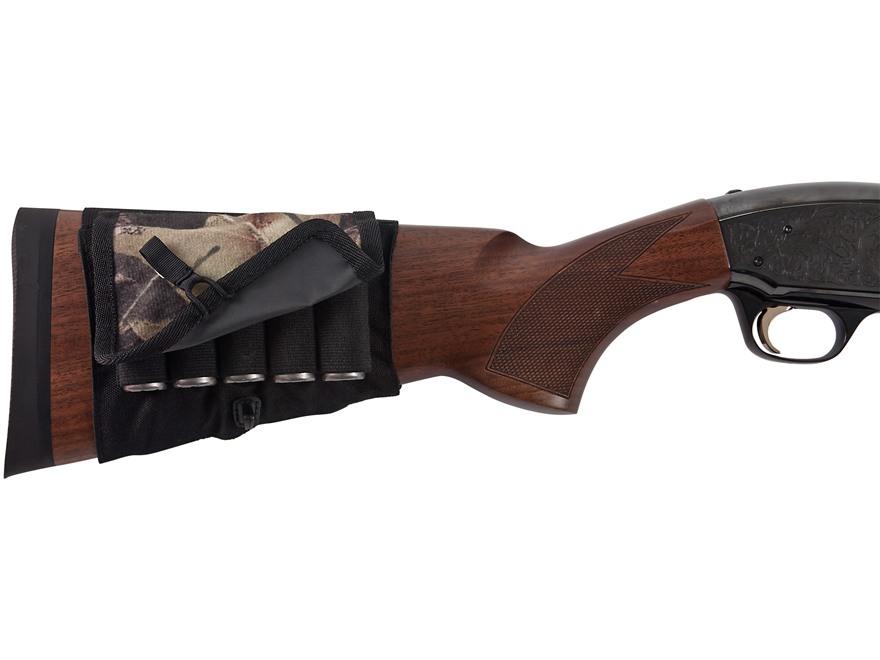 Allen Buttstock Shotgun Ammunition Carrier with Cover 5-Round Elastic Mossy Oak Break-U...