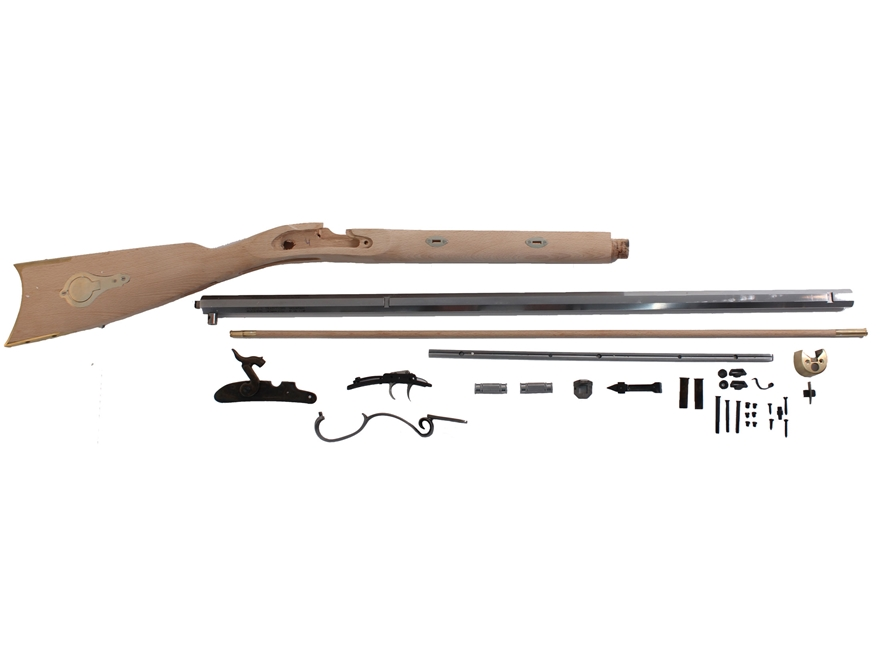 "Traditions Mountain Muzzleloading Rifle Kit 50 Caliber Percussion 32"" Barrel Hardwood S..."