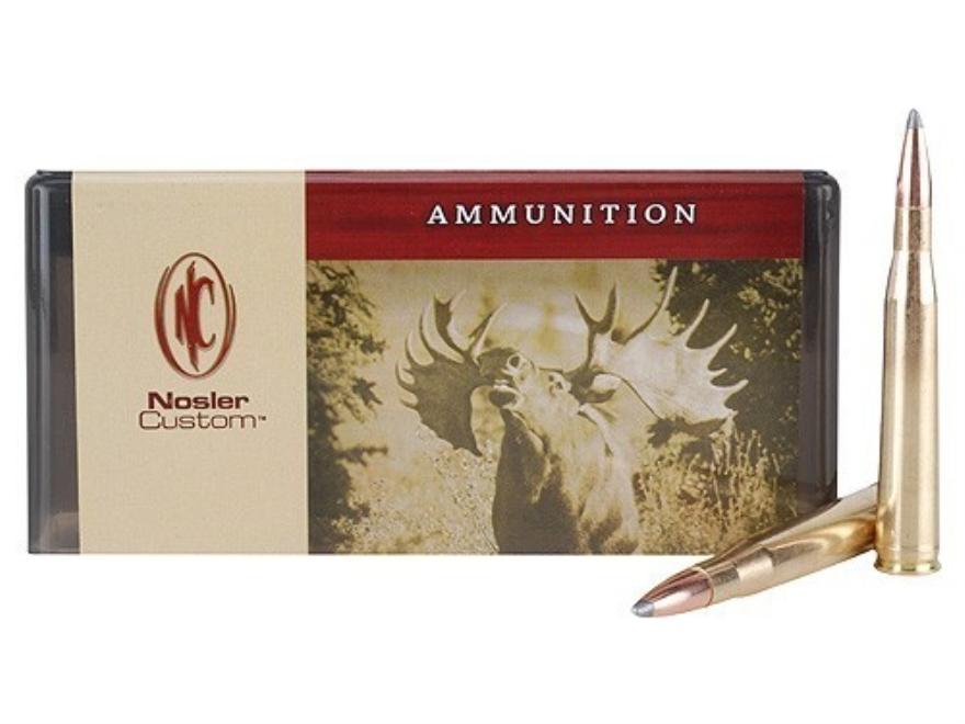 Nosler Custom Ammunition 300 H&H Magnum 200 Grain Partition Spitzer Box of 20