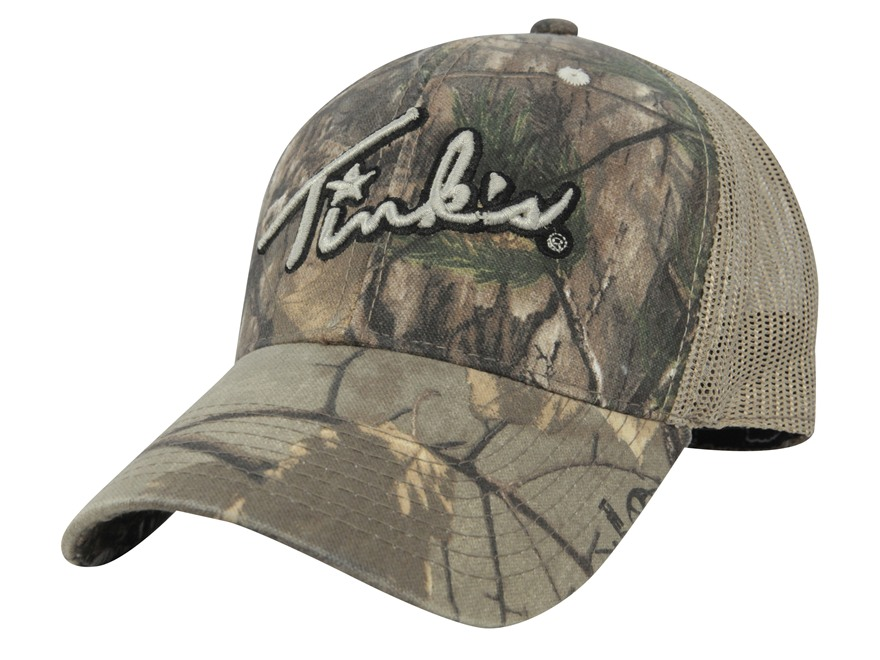 Tink's Mesh Logo Cap Cotton and Polyester Realtree Xtra Camo