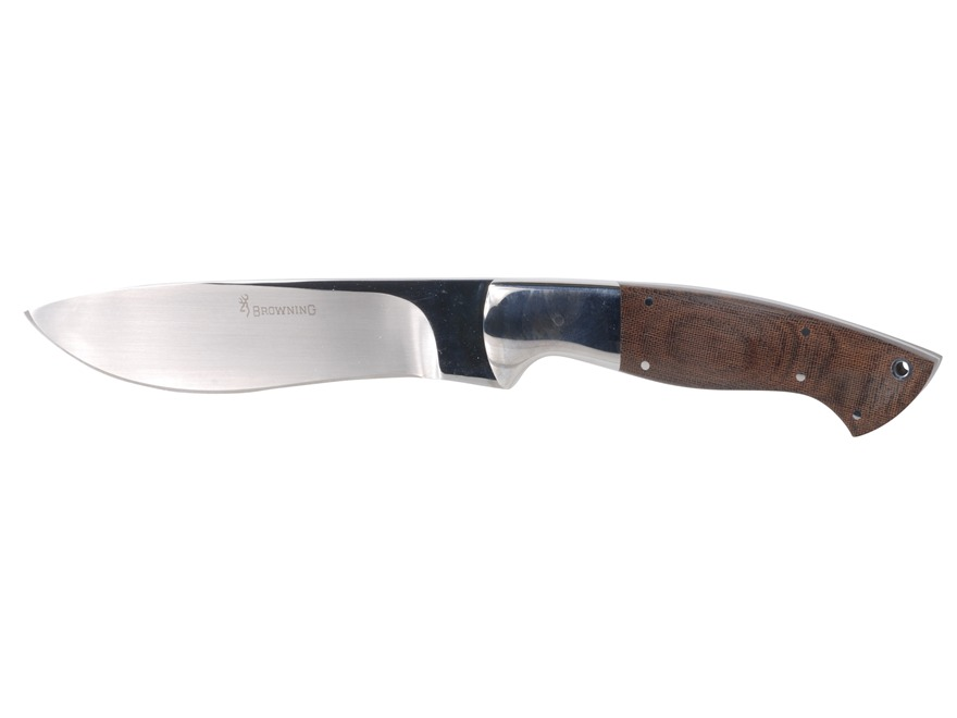 "Browning Back Country Camp Fixed Blade Knife 6.25"" Drop Point Sandvik 12C27 Stainless S..."