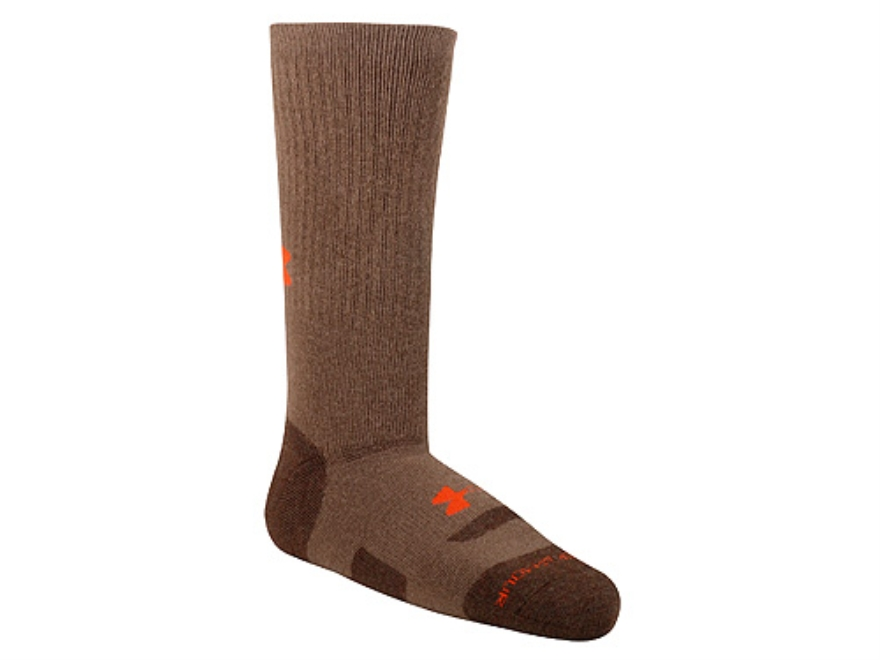 Under Armour Men's Midweight Boot Socks Synthetic Blend Hearthstone Large (9-12-1/2)