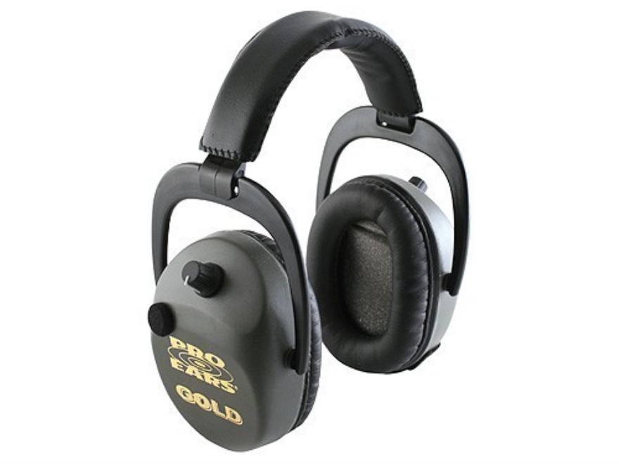 Pro Ears Sporting Clay Gold Electronic Earmuffs (NRR 25 dB) Green