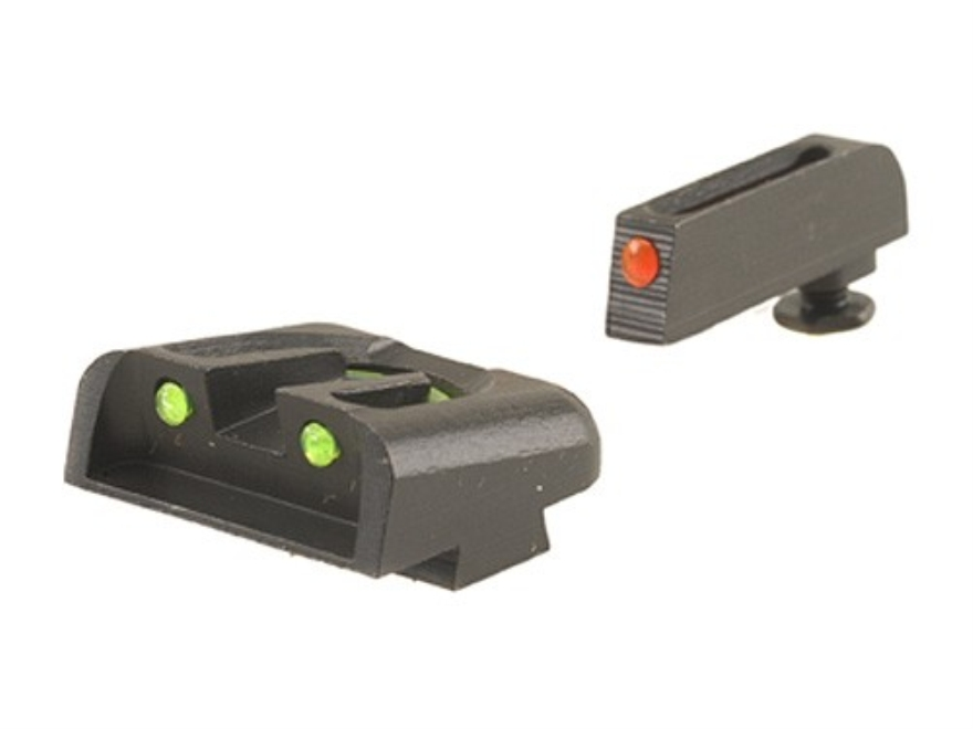 TRUGLO Brite-Site Sight Set Glock 20, 21, 29, 30, 31, 32, 37 Steel Fiber Optic Red Fron...