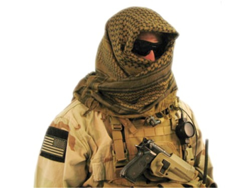 BLACKHAWK! Tactical Shemagh Cotton Sand and Black