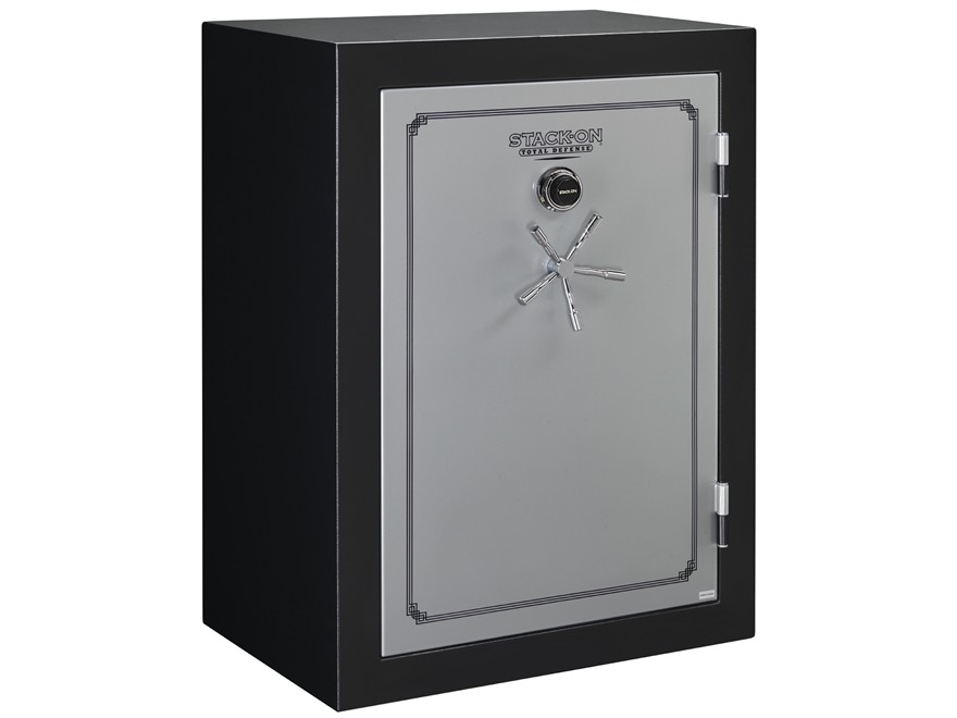 Stack-On Total Defense Fire-Resistant 54-Gun Safe with Combination Lock Matte Black and...