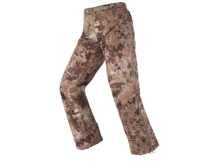 Kryptek Men's Poseidon Lightweight Rain Pants Polyester Highlander Camo Large 34-36 Wai...