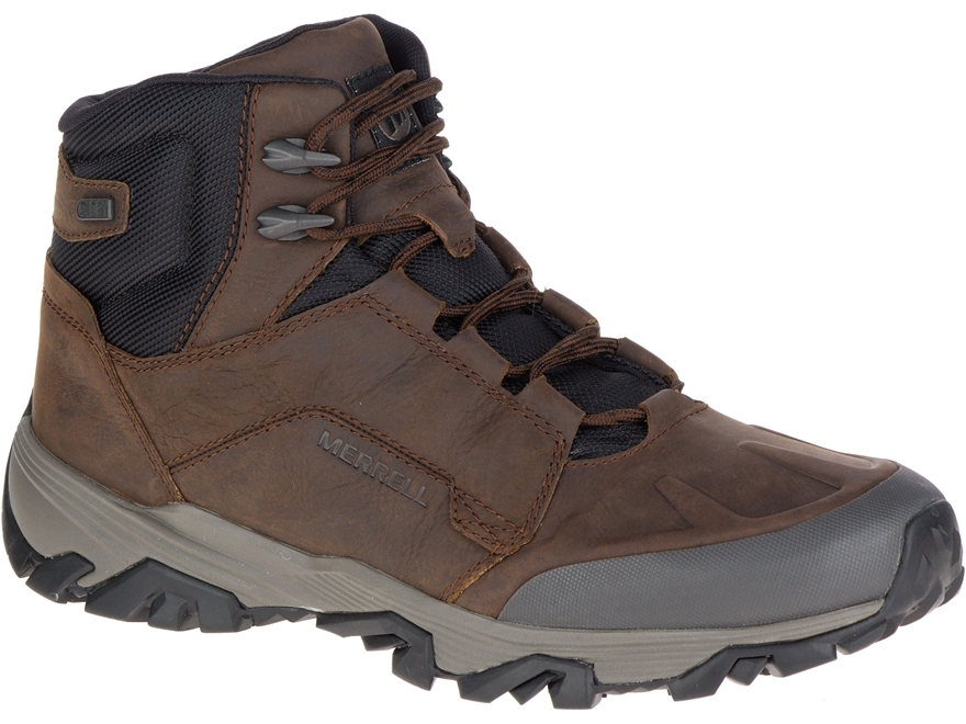 """Merrell Coldpack Ice+ Mid Polar 5"""" 200 Gram Insulated Waterproof Hiking Boots Leather/S..."""