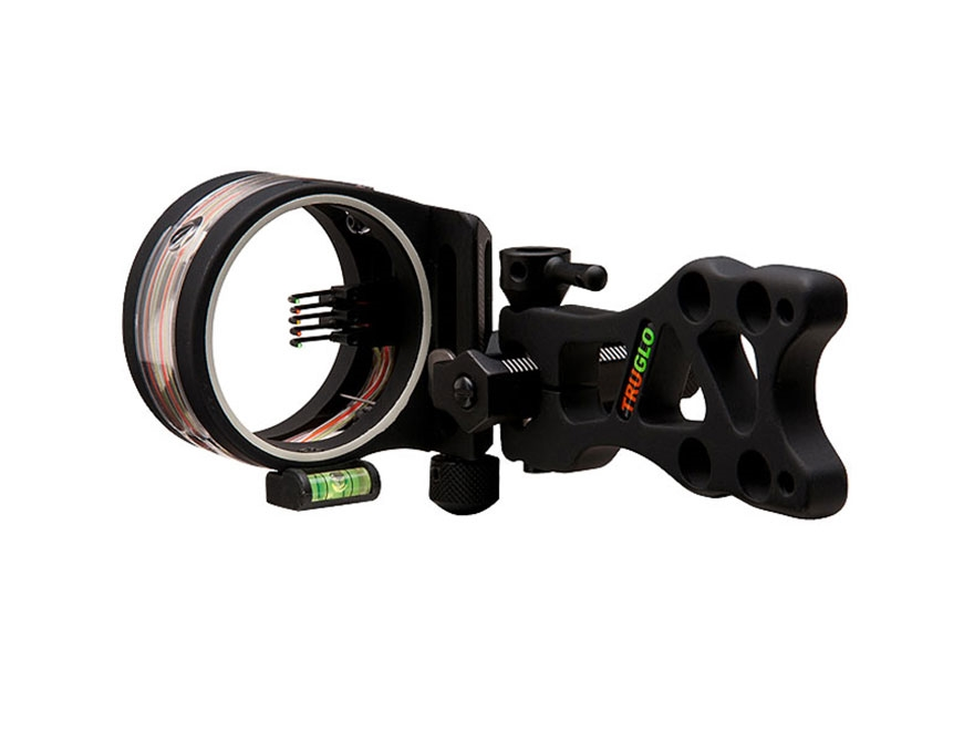 "TRUGLO TSX Pro Series Micro Adjust 5 Pin Bow Sight .019"" Diameter Pins Black"