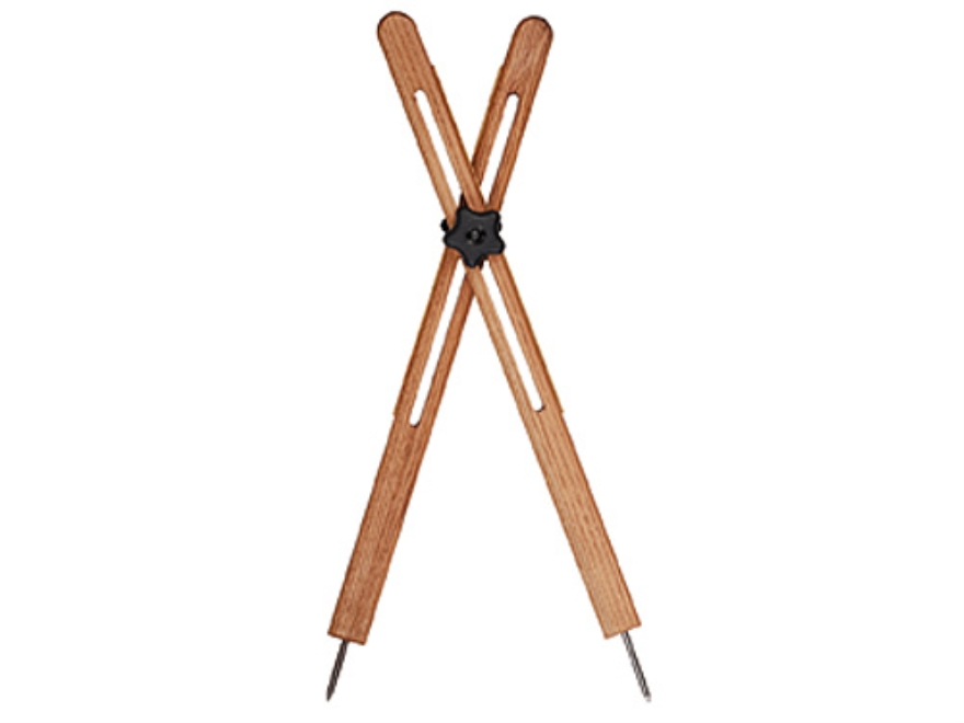 "Cat's Shooting Sticks Buffalo Cross Sticks Prone Model 24"" Solid Oak"