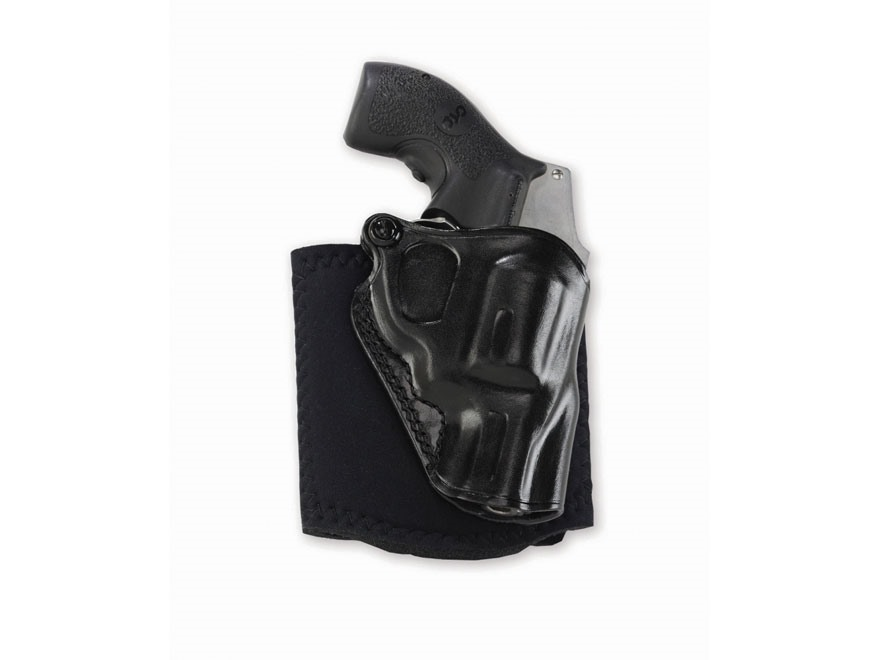 Galco Ankle Glove Holster Leather with Neoprene Leg Band Black