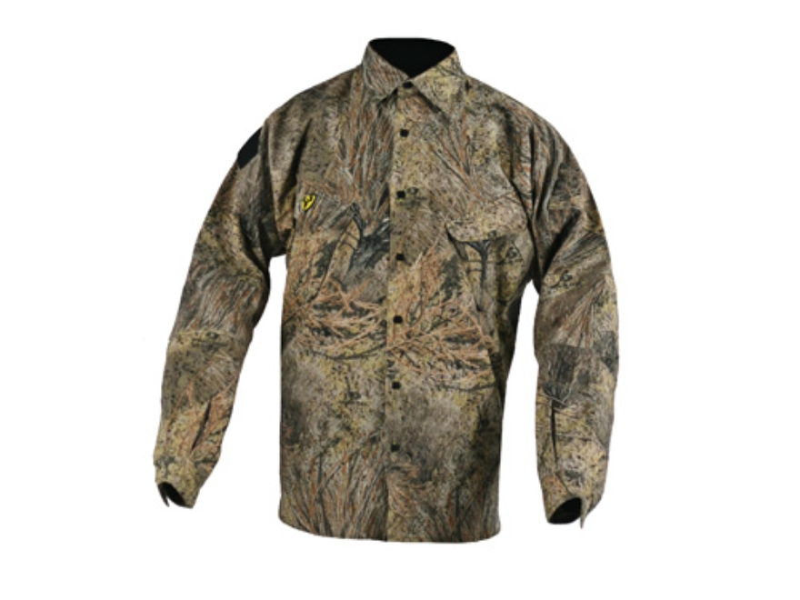 ScentBlocker Men's S3 Tactical Shirt Long Sleeve Polyester Mossy Oak Brush Camo Medium ...
