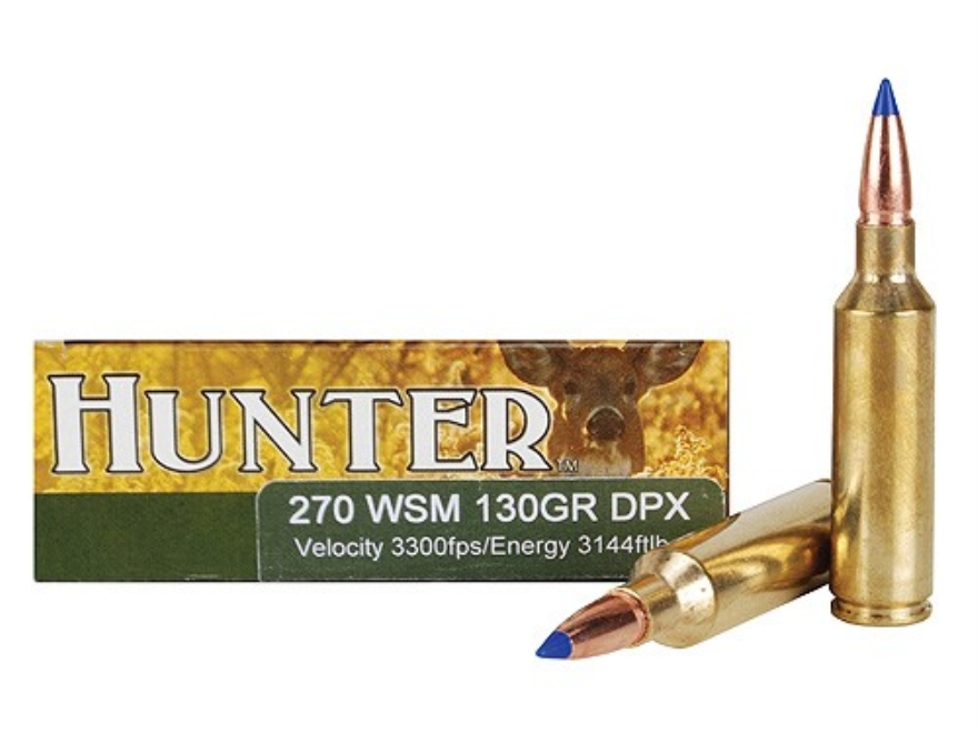 Cor-Bon DPX Hunter Ammunition 270 Winchester Short Magnum (WSM) 130 Grain Tipped DPX Le...