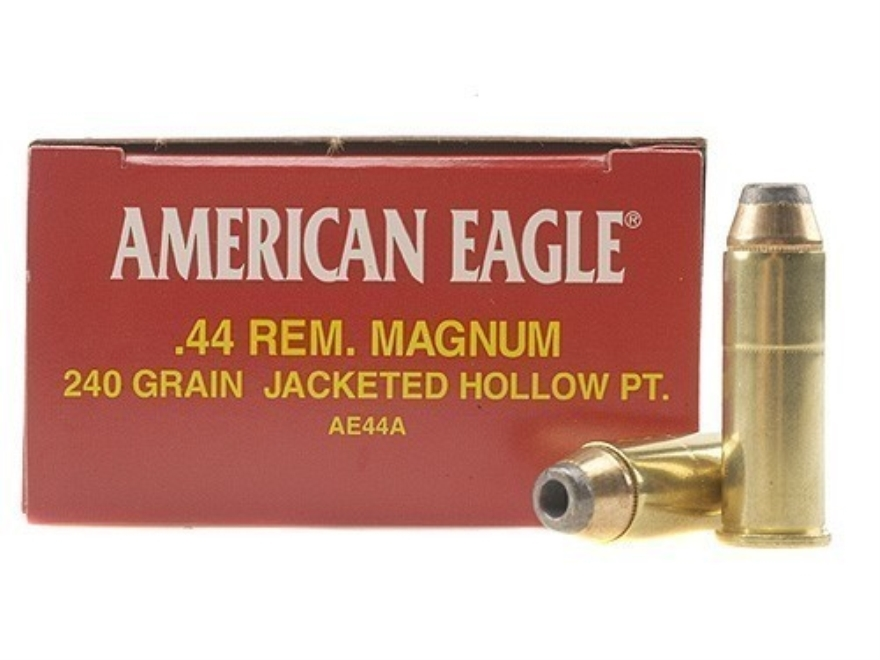 Federal American Eagle Ammunition 44 Remington Magnum 240 Grain Jacketed Hollow Point B...