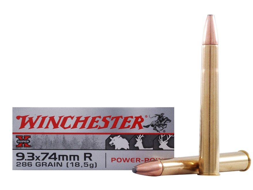 Winchester Super-X Ammunition 9.3x74mm Rimmed 286 Grain Power-Point Box of 20