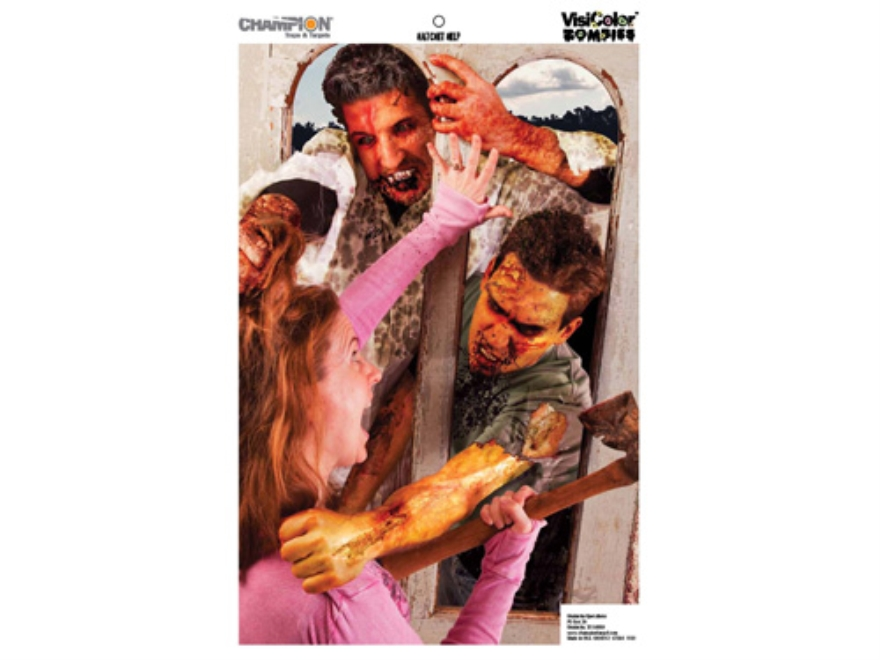 "Champion Zombie Hatchet Help Target 24"" x 45"" Paper Package of 10"