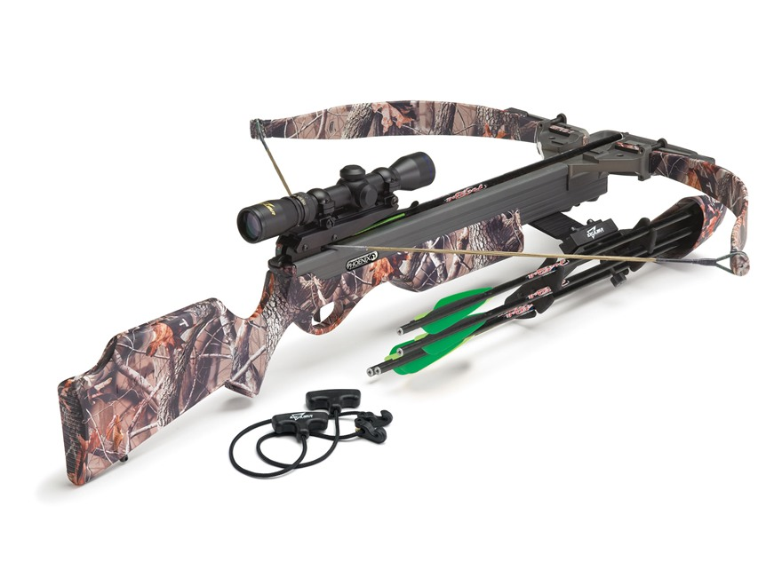 Excalibur Phoenix Crossbow Package with Vari-Zone Scope Realtree Hardwoods Camo