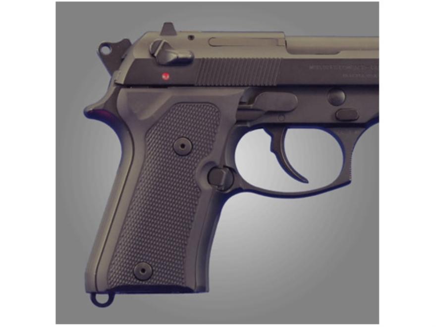 Hogue Extreme Series Grip Beretta 92FS Compact Checkered Aluminum Matte Black