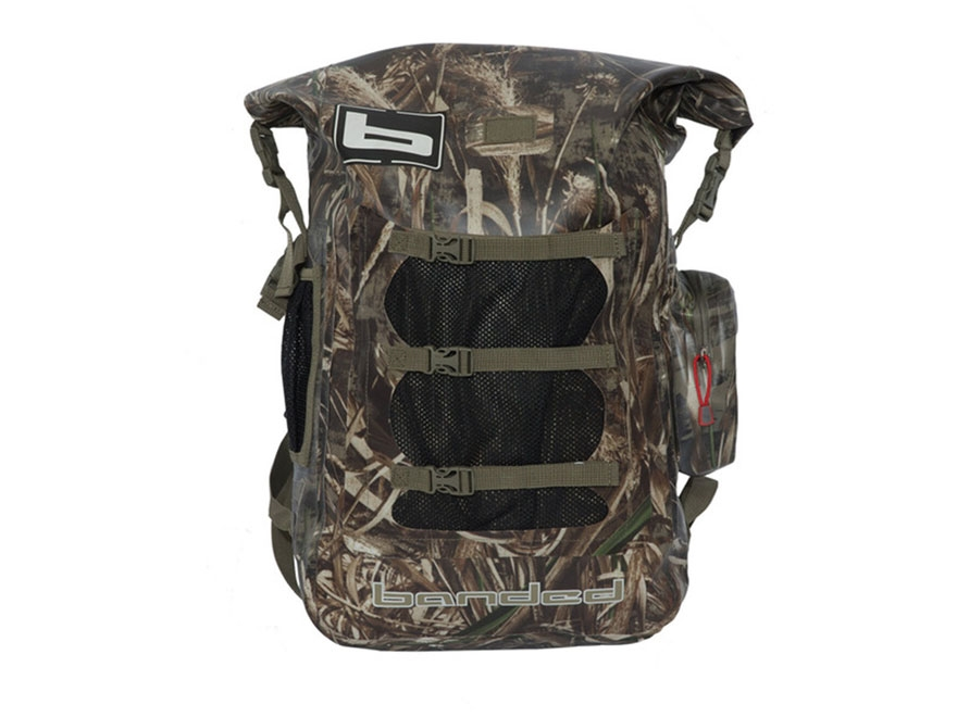 Banded Arc Welded Waterproof Backpack 600D Fabric Realtree Max-5 Camo