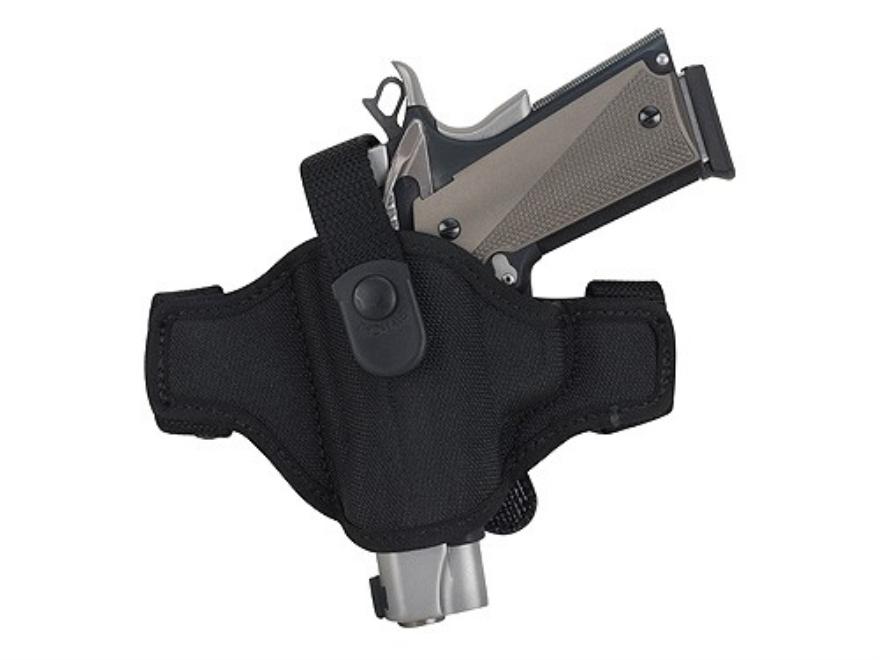 Bianchi 7506 AccuMold Belt Slide Holster Left Hand Large Auto Glock, Ruger P89 Nylon Black