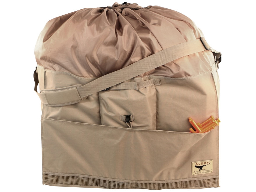 Avery 12-Slot Newbold Full Body Lesser Goose Decoy Bag Duramax Field Khaki