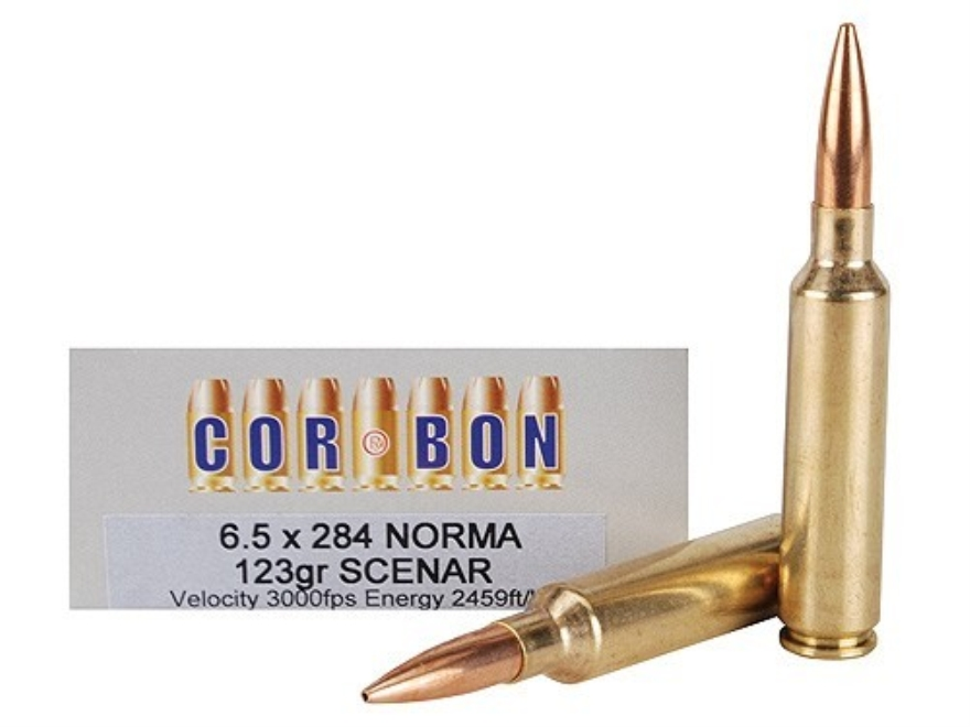 Cor-Bon Performance Match Ammunition 6.5mm-284 Norma 123 Grain Lapua Scenar Box of 20