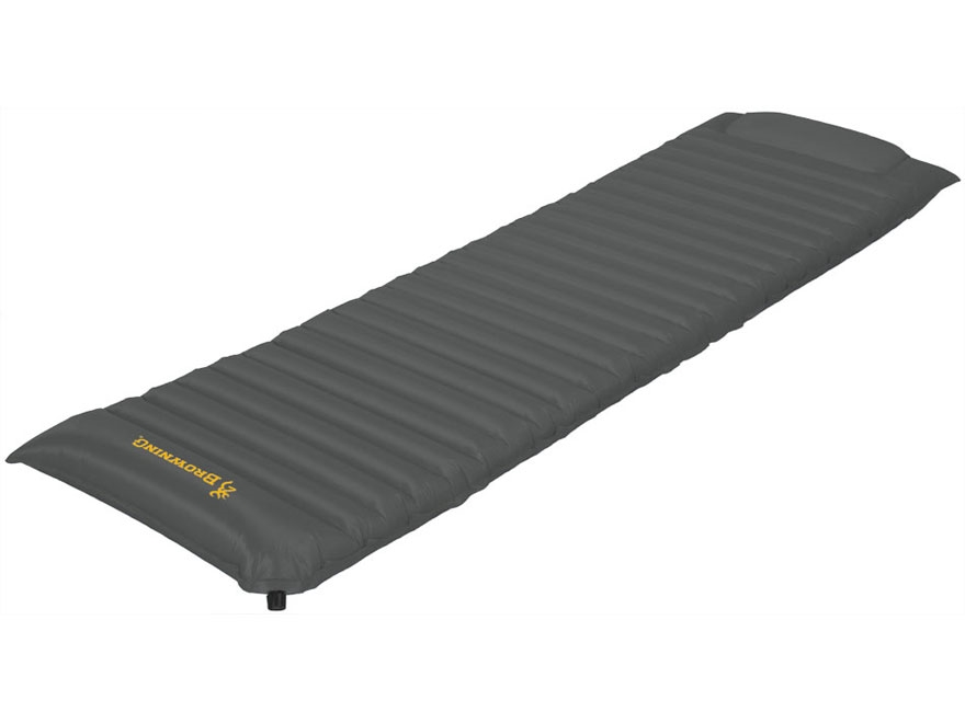 Browning Tundra 4s Inflatable Sleeping Pad Polyester Gray