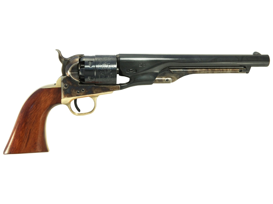 "Uberti 1860 Army Black Powder Revolver 44 Caliber 8"" Barrel Steel Frame Brass Trigger G..."