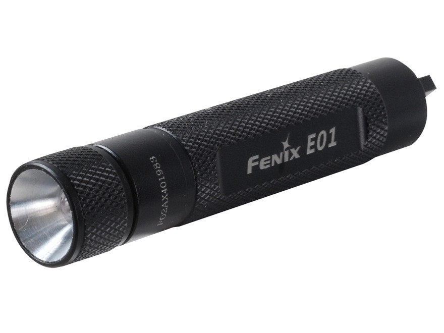 Fenix E01 Flashlight White LED Aluminum Black