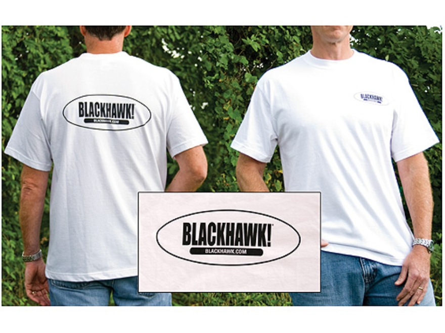 "BLACKHAWK! Branded Short Sleeve T-Shirt Cotton White Large (42"" to 44"")"