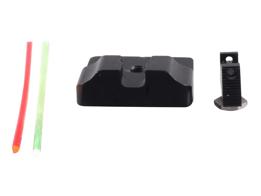 Warren Tactical Sight Set Glock 17, 19, 22, 23, 24, 34, 35 Plain Tactical Rear, Fiber O...