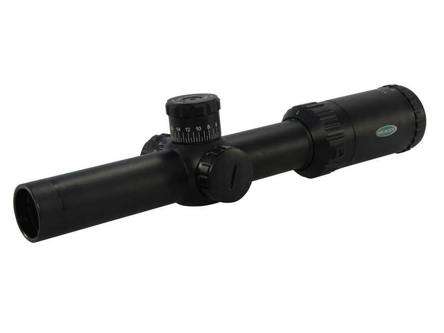 Weaver Kaspa Tactical Rifle Scope 30mm Tube 1-4x 24mm Dual-X Reticle Matte