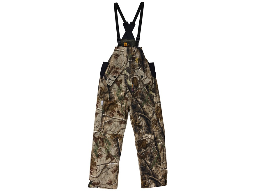 Browning Men's Hydro-Fleece PrimaLoft Waterproof Insulated Bibs Polyester Realtree AP C...