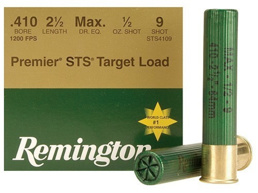 "Remington Premier STS Target Ammunition 410 Bore 2-1/2"" 1/2 oz #9 Shot Box of 25"